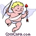 Cupid with bow and arrow Vector Clipart graphic