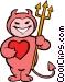 little devil Vector Clip Art picture