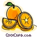 Sliced oranges Vector Clip Art image