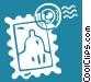 postage stamp Vector Clip Art image