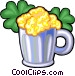Mug of beer with clovers Vector Clip Art graphic
