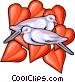 love birds Vector Clipart illustration
