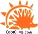 porcupine Vector Clipart graphic