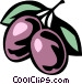 plums Vector Clipart image