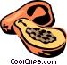 papaya Vector Clipart graphic