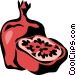 pomegranate Vector Clip Art picture