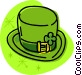 St. Patrick's Day top hat Vector Clipart illustration