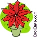 Christmas poinsettia Vector Clipart illustration