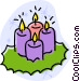 candles Vector Clipart graphic