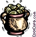 pot of gold coins Vector Clip Art picture