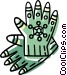 winter gloves Vector Clipart graphic
