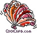oriental hand fans Vector Clipart graphic