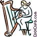 harpist Vector Clipart illustration