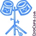 Drums Vector Clip Art image