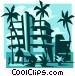 beach resort Vector Clip Art graphic