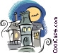 Haunted Houses Vector Clip Art image