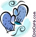 Oven mitts Vector Clip Art picture