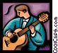 musician player in guitar Vector Clipart graphic