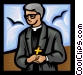 Priest Vector Clip Art graphic