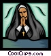 Nun Vector Clipart picture