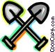 Shovels Vector Clipart picture