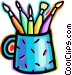 Paint and Brushes Vector Clipart illustration