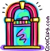 Jukeboxes Vector Clipart graphic