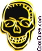 Human skull Vector Clipart picture
