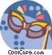mardi gras mask Vector Clipart image