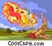 Elijah's Fire Elijah herald of the MESSIAH Vector Clip Art picture