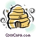 beehive Vector Clip Art graphic