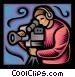 television camera man Vector Clip Art picture