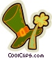 St. Patrick's day hat and Vector Clipart image