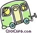Camping trailer Vector Clip Art image