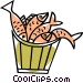 pail of fish Vector Clipart illustration