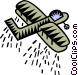 crop dusting Vector Clip Art picture