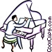 Pianists Vector Clip Art picture