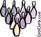 bowling pins Vector Clipart picture