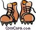 mountain climbing boots Vector Clipart image