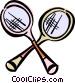 badminton racket Vector Clipart image