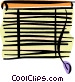 horizontal blinds Vector Clipart illustration