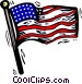American flag Vector Clipart image