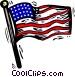 American flag Vector Clipart illustration