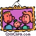 family picture Vector Clipart picture