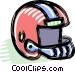football helmet Vector Clipart graphic