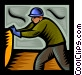 warehouse worker Vector Clipart graphic