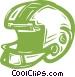 football helmet Vector Clipart illustration