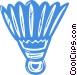 badminton birdie Vector Clipart image