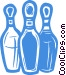 bowling pins Vector Clipart illustration