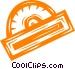 protractor Vector Clip Art graphic